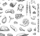 vector pattern of sketches of... | Shutterstock .eps vector #561673645