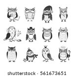 beautiful vector set of twelve ... | Shutterstock .eps vector #561673651