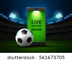 mobile phone football online on ... | Shutterstock .eps vector #561673705