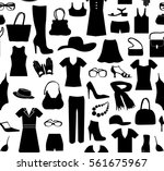 Fashion Cloth Seamless Pattern. ...