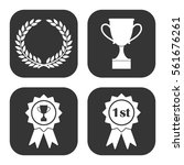 awards badges and cups icons... | Shutterstock .eps vector #561676261