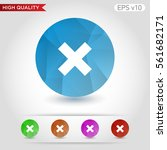 colored icon or button of cross ... | Shutterstock .eps vector #561682171