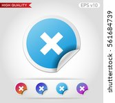colored icon or button of cross ... | Shutterstock .eps vector #561684739