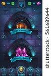 monster battle gui playing... | Shutterstock .eps vector #561689644