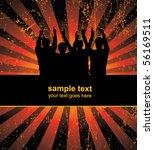 team on the background   vector ... | Shutterstock .eps vector #56169511