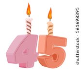 45 years birthday. number with... | Shutterstock .eps vector #561698395
