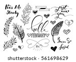 valentine day  wedding hand... | Shutterstock .eps vector #561698629