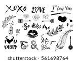 valentine day  wedding hand...   Shutterstock .eps vector #561698764