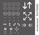 arrow icon set white | Shutterstock .eps vector #561700081