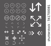 arrow icon set white