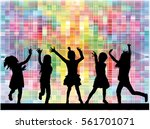children silhouette. abstract... | Shutterstock .eps vector #561701071