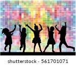 children silhouette. abstract... | Shutterstock .eps vector #561701071