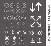 arrow.outline vector icons for... | Shutterstock .eps vector #561702109
