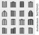 building icons vector set | Shutterstock .eps vector #561702415