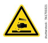 warning acid sign  vector ... | Shutterstock .eps vector #561703321