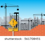 construction site with... | Shutterstock .eps vector #561708451
