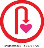 u turn love  | Shutterstock .eps vector #561717721