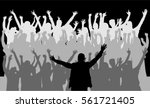 dancing people silhouettes.... | Shutterstock .eps vector #561721405