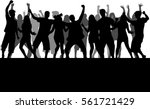 dancing people silhouettes.... | Shutterstock .eps vector #561721429