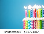 colorful birthday candles | Shutterstock . vector #561721864