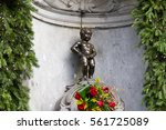 Manneken Pis Of Bruxelles With...