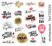 valentine day signs and... | Shutterstock .eps vector #561725224