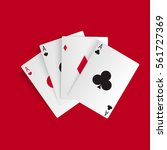 playing cards isolated on white. | Shutterstock .eps vector #561727369