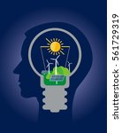 ecological thinking green...   Shutterstock .eps vector #561729319