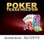 poker texas hold em with casino ... | Shutterstock .eps vector #561729775