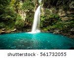 Majestic Waterfall In The...