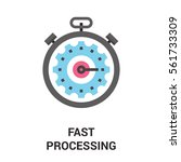 fast processing icon. | Shutterstock .eps vector #561733309