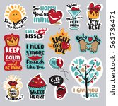 set of valentine day stickers... | Shutterstock .eps vector #561736471