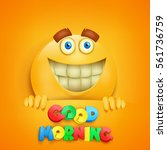 good morning concept card with... | Shutterstock .eps vector #561736759