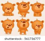 creation set of teddy bear... | Shutterstock .eps vector #561736777