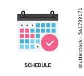 schedule icon concept. | Shutterstock .eps vector #561739171