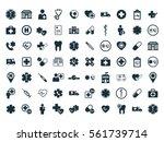 medical icons set on white...