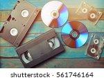 audio cassettes  cassettes... | Shutterstock . vector #561746164