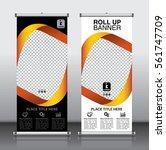 roll up brochure flyer banner... | Shutterstock .eps vector #561747709
