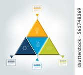 triangle  4 step infographic ... | Shutterstock .eps vector #561748369