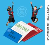 kid student school college... | Shutterstock .eps vector #561752347