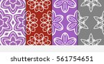 set of floral geometric lace...