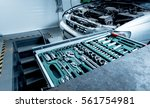 tools in auto repair service....   Shutterstock . vector #561754981