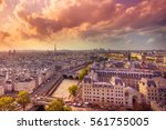 sunset view across the city of... | Shutterstock . vector #561755005