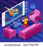 video game screen   gamer... | Shutterstock .eps vector #561756799