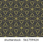 decorative geometric floral... | Shutterstock .eps vector #561759424