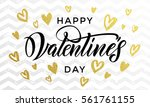 valentine day golden hearts and ...   Shutterstock .eps vector #561761155