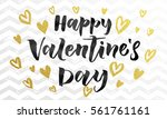 luxury gold valentine day text...   Shutterstock .eps vector #561761161