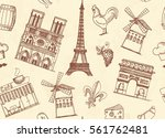 seamless pattern with sketches... | Shutterstock .eps vector #561762481