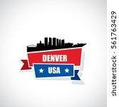 denver ribbon banner   colorado ... | Shutterstock .eps vector #561763429