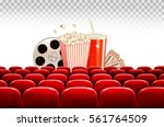 cinema background with a film... | Shutterstock .eps vector #561764509